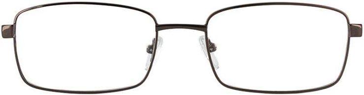 Prescription Glasses Model PT71-COFFEE-FRONT