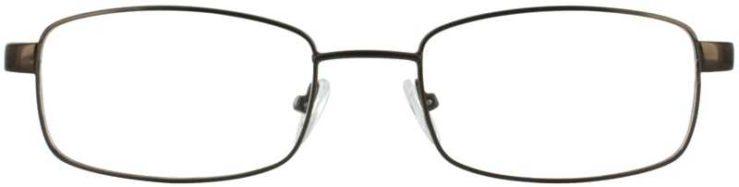 Prescription Glasses Model PT78-BROWN-FRONT