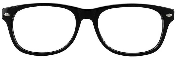 Prescription Glasses Model RAD09-BLACK-FRONT