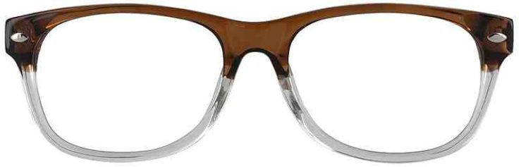Prescription Glasses Model RAD09-BROWN-FRONT