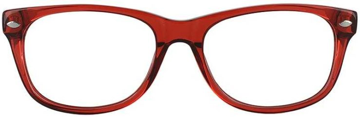 Prescription Glasses Model RAD09-RED-FRONT