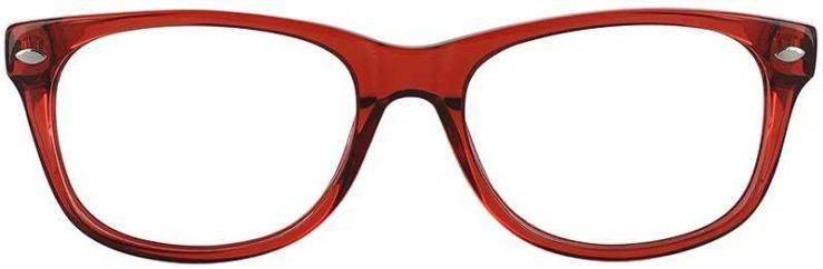 Prescription Glasses Model RAD09-RED-FRONT