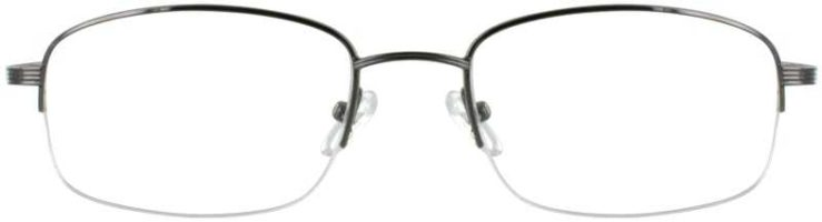 Prescription Glasses Model RENAISSANCE-GUNMETAL-FRONT