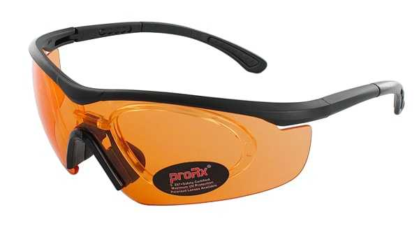 Prescription Glasses Model RIDE91195-BLACK-ORANGE-45
