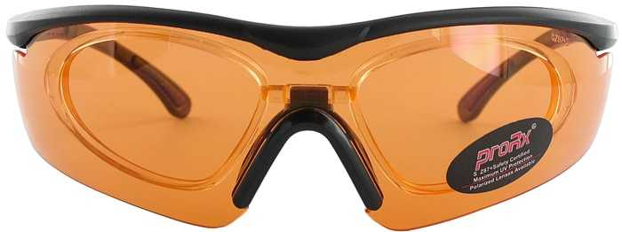Prescription Glasses Model RIDE91195-BLACK-ORANGE-FRONT