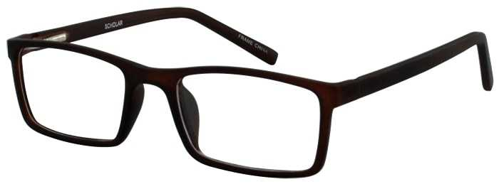 Prescription Glasses Model SCHOLAR-BROWN-45