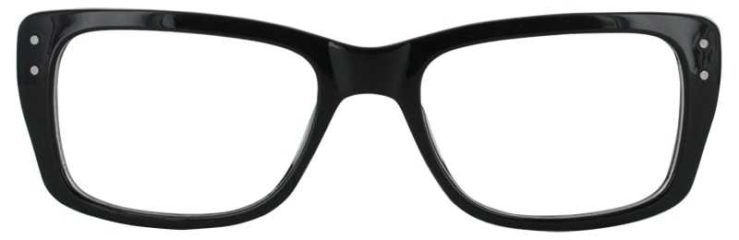Prescription Glasses Model SENIOR-BLACK-FRONT