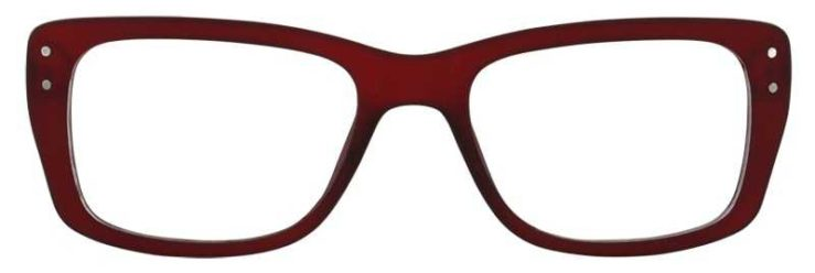 Prescription Glasses Model SENIOR-BURGUNDY-FRONT