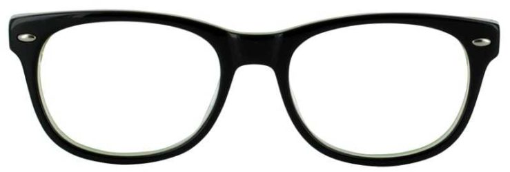 Prescription Glasses Model T22-BLACK-FRONT