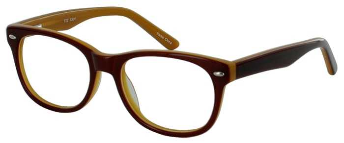 Prescription Glasses Model T22-BROWN-45