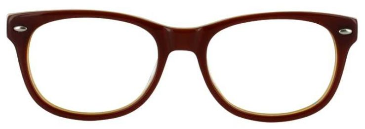 Prescription Glasses Model T22-BROWN-FRONT