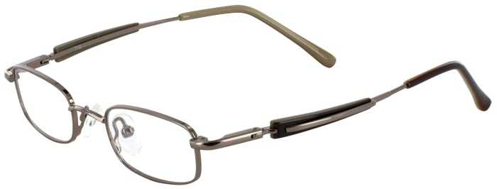 Prescription Glasses Model T10-BROWN-45