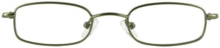 Prescription Glasses Model T10-GREEN-FRONT