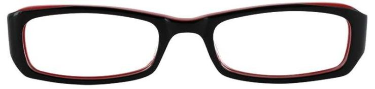 Prescription Glasses Model T15-BLACK RED-FRONT
