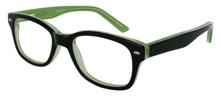 Prescription Glasses Model T19-BLACK-45