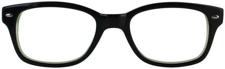 Prescription Glasses Model T19-BLACK-FRONT