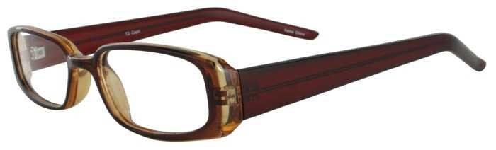 Prescription Glasses Model T2-BROWN-45