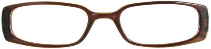 Prescription Glasses Model T2-BROWN-FRONT