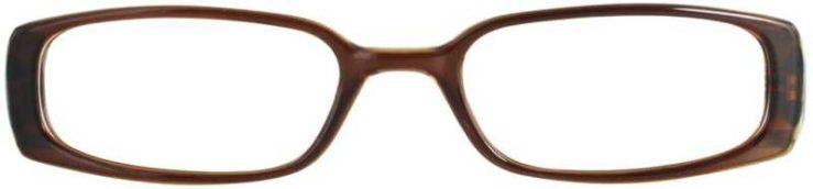 Prescription Glasses Model T2-BROWN-FRONT