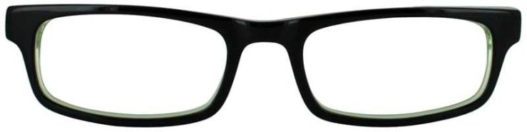 Prescription Glasses Model T23-BLACK-FRONT