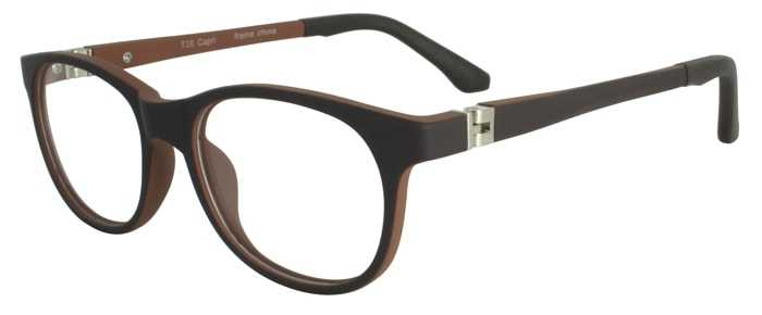 Prescription Glasses Model T28-BROWN-45