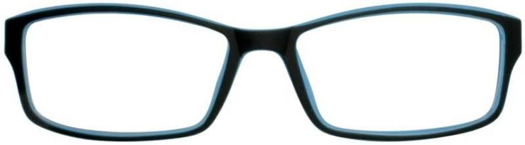 Prescription Glasses Model T30-BLACK-FRONT