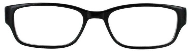 Prescription Glasses Model TEACHER-BLACK-FRONT