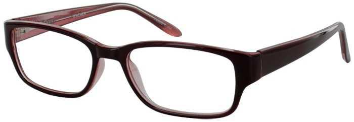Prescription Glasses Model TEACHER-BURGUNDY-45