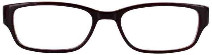 Prescription Glasses Model TEACHER-BURGUNDY-FRONT