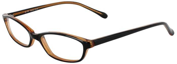 Prescription Glasses Model U10-BLACK AMBER-45
