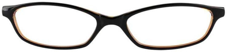 Prescription Glasses Model U10-BLACK AMBER-FRONT