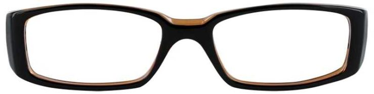 Prescription Glasses Model U14-BLACK AMBER-FRONT