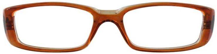 Prescription Glasses Model U14-BROWN-FRONT