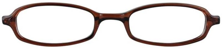 Prescription Glasses Model U17-BROWN-FRONT