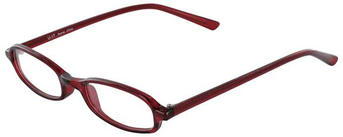 Prescription Glasses Model U17-BURGANDY-45