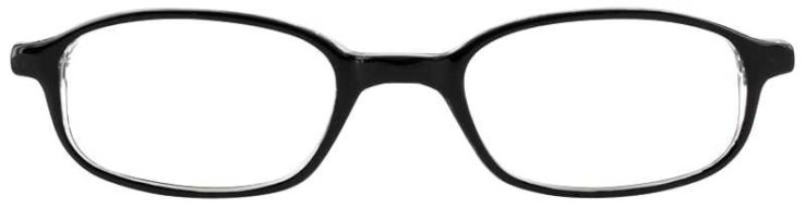 Prescription Glasses Model U19-BLACK CRYSTAL-FRONT
