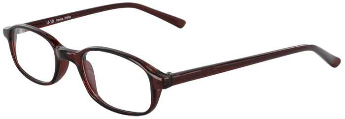 Prescription Glasses Model U19-BROWN-45