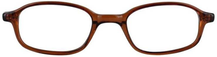 Prescription Glasses Model U19-BROWN-FRONT