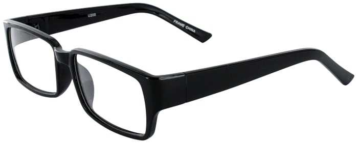 Prescription Glasses Model U200-BLACK-45