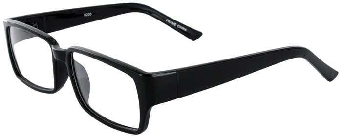 Prescription Glasses Model U200-BLACK-45