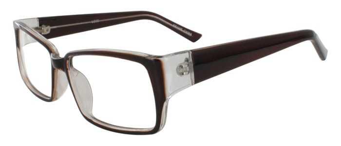 Prescription Glasses Model U200-BROWN-45