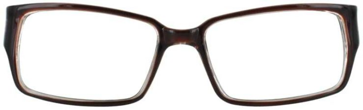 Prescription Glasses Model U200-BROWN-FRONT