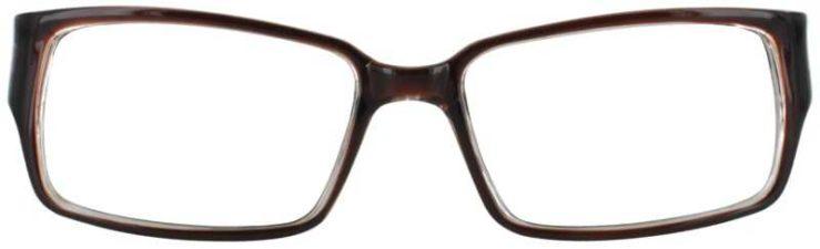 Prescription Glasses Model U200-BROWN-FRONT