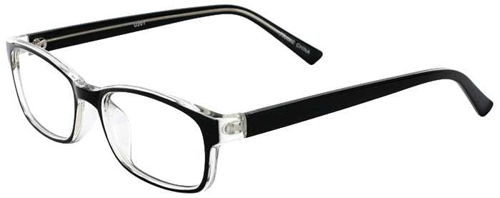 Prescription Glasses Model U201-BLACK-45