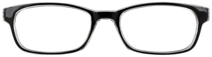 Prescription Glasses Model U201-BLACK-FRONT