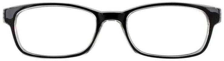Prescription Glasses Model U201-BLACK-FRONT