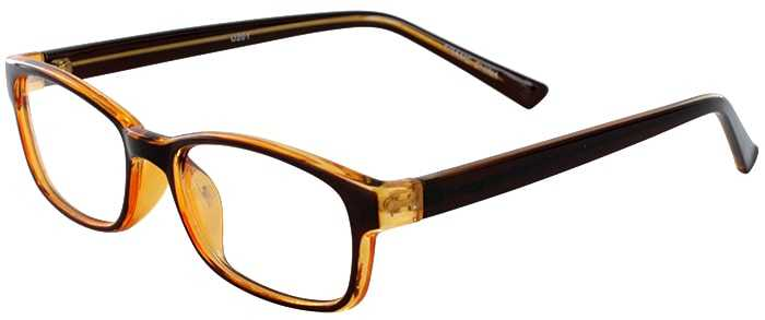 Prescription Glasses Model U201-BROWN-45