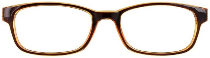 Prescription Glasses Model U201-BROWN-FRONT