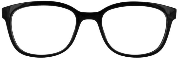 Prescription Glasses Model U203-BLACK-FRONT