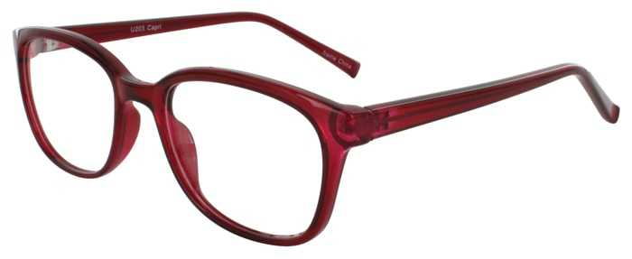 Prescription Glasses Model U203-BURGUNDY-45
